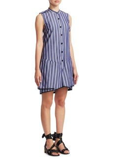 Proenza Schouler Stripe Cotton Flared Dress