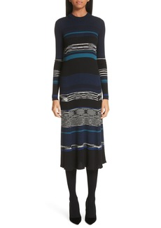 Proenza Schouler Stripe Knit Midi Dress