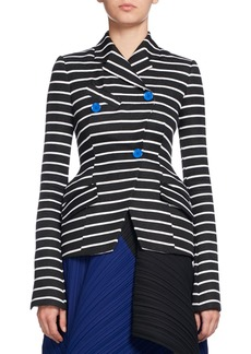 Proenza Schouler Striped Asymmetric Suiting Jacket