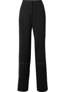 Proenza Schouler Striped crepe wide-leg pants