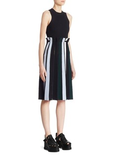 Proenza Schouler Striped Flare Dress