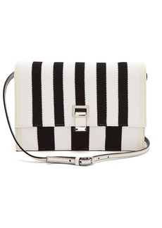 Proenza Schouler Striped knit and leather cross-body bag