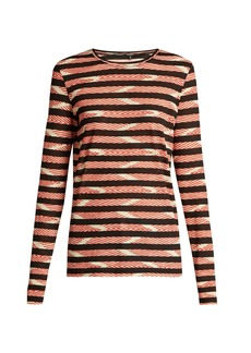Proenza Schouler Striped long-sleeved cotton T-shirt