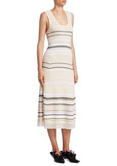 Striped Scoopneck Dress