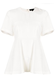 Proenza Schouler structured flared blouse - White