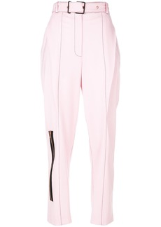Proenza Schouler tailored zipped trousers - Pink & Purple