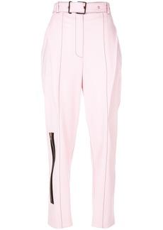 Proenza Schouler tailored zipped trousers - Pink & Purple