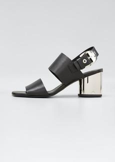 Proenza Schouler Tesla Metallic-Heel Sandals