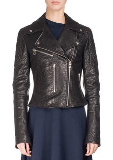 Proenza Schouler Textured Leather Motorcycle Jacket