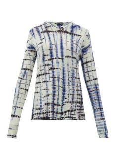 Proenza Schouler Tie-dye long-sleeve cotton-jersey T-shirt