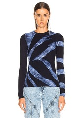 Proenza Schouler Tie Dye Rib Long Sleeve Top