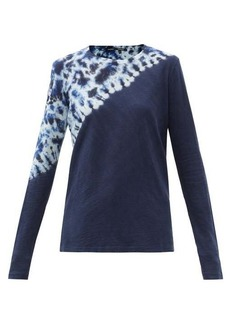 Proenza Schouler Tie-dyed cotton-jersey long-sleeved T-shirt