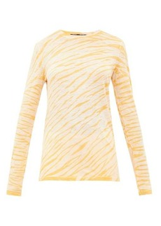 Proenza Schouler Tie-dyed cotton long-sleeved T-shirt