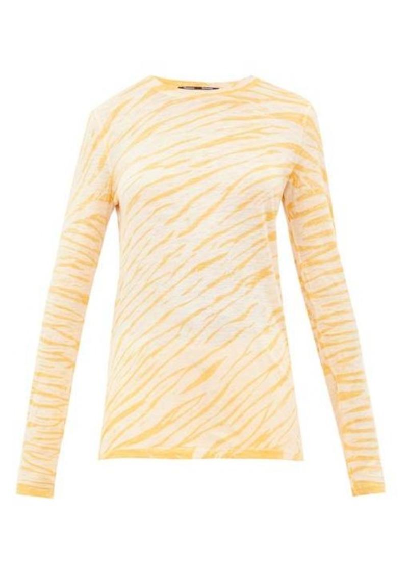 Proenza Schouler Tie-dyed cotton long-sleeved T-shirt