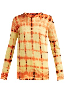 Proenza Schouler Tie-dyed long-sleeved cotton T-shirt