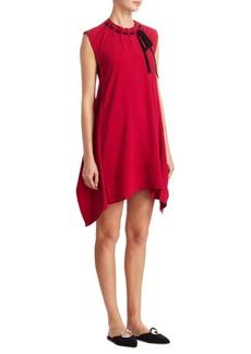 Proenza Schouler Tie Front Trapeze Dress