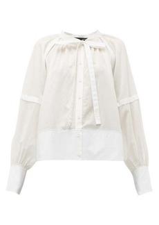 Proenza Schouler Tie-neck cotton-voile blouse
