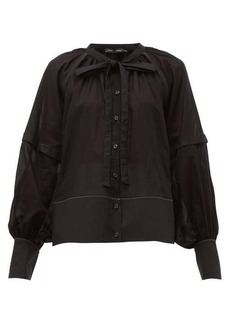 Proenza Schouler Tie-neck cotton-voile blouse