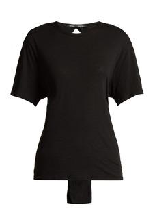 Proenza Schouler Tie-waist cotton T-shirt
