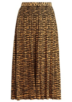 Proenza Schouler Tiger-jacquard pleated midi skirt