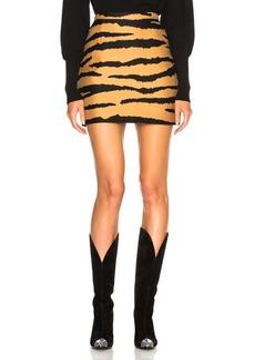 Proenza Schouler Tiger Print Jacquard Mini Skirt