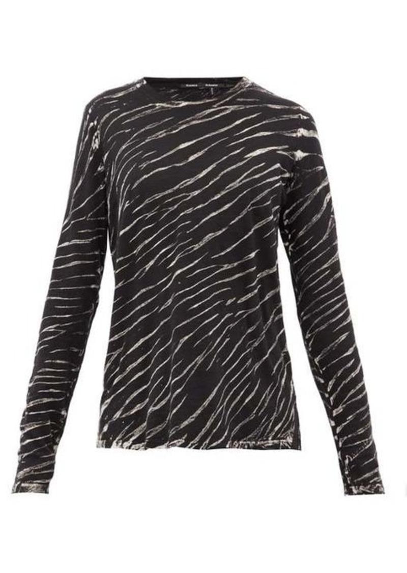 Proenza Schouler Tiger-print long-sleeved cotton T-shirt
