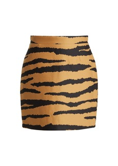 Proenza Schouler Tiger-print wool-blend jacquard mini skirt