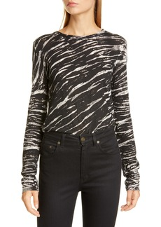 Proenza Schouler Tiger Stripe Cotton Top
