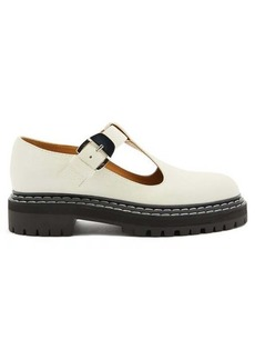 Proenza Schouler Tread-sole T-bar leather loafers