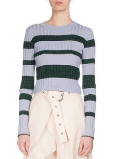Proenza Schouler Ultrafine Striped Knit Sweater