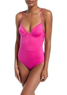 Proenza Schouler Underwire Lingerie One-Piece Swimsuit