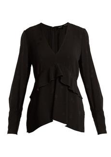 Proenza Schouler V-neck long-sleeved jacquard top