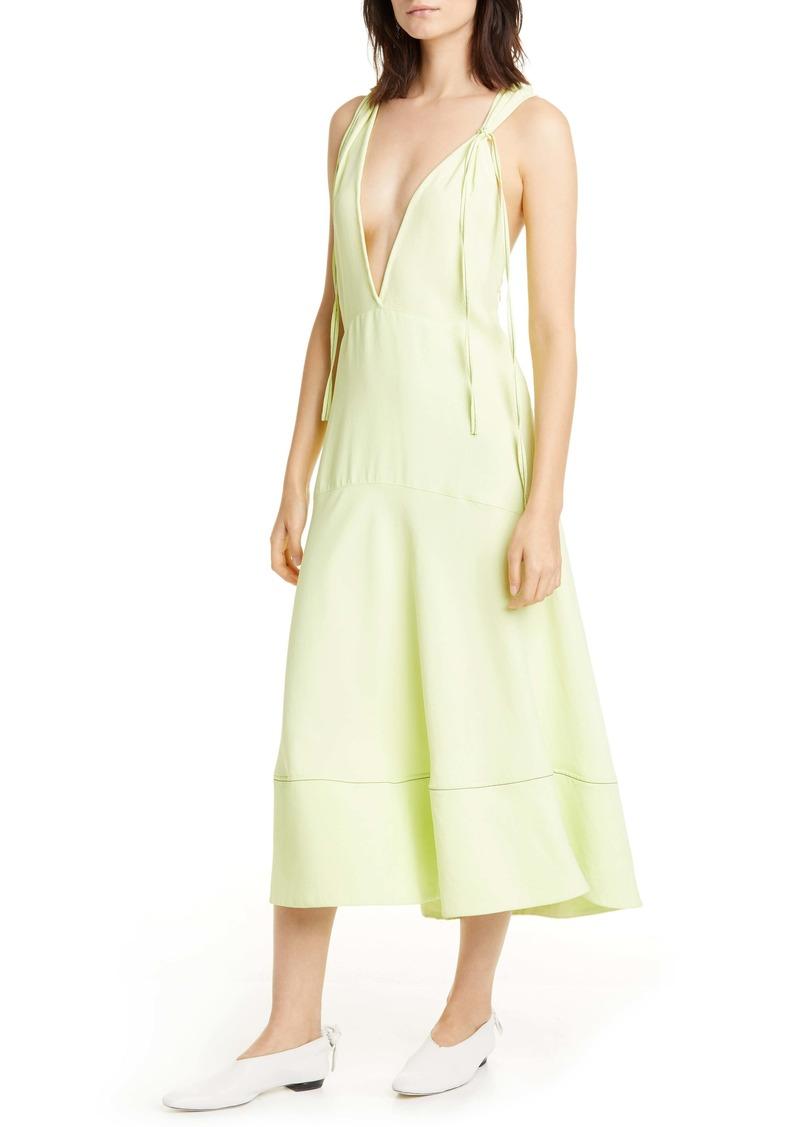 Proenza Schouler V-Neck Midi Dress
