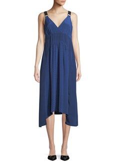 Proenza Schouler V-Neck Sleeveless Floral-Print Silk Crepe Dress