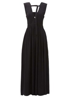 Proenza Schouler V-neckline crepe maxi dress