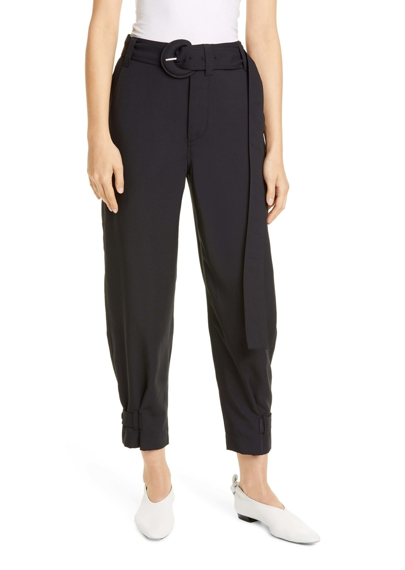 Proenza Schouler White Label Belted Piqué Ankle Pants
