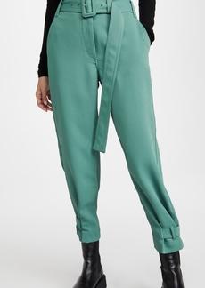Proenza Schouler White Label Belted Rumple Pique Pants