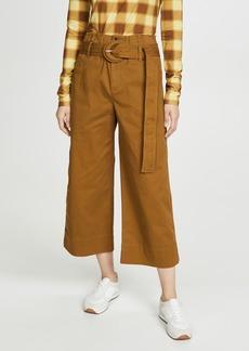 Proenza Schouler White Label Cotton Paperbag Pants