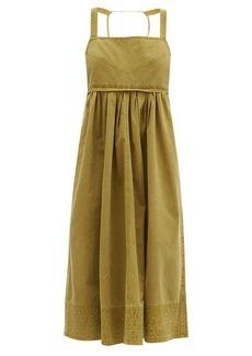 Proenza Schouler White Label Empire-waist cotton-canvas dress