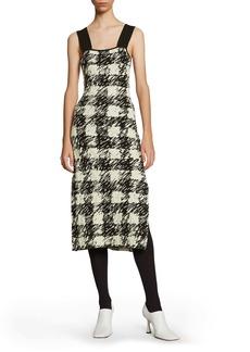 Proenza Schouler White Label Gingham Jacquard Midi Sweater Dress