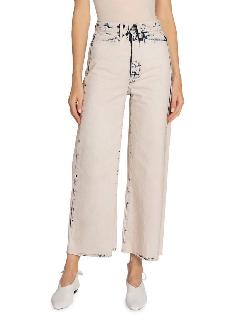 Proenza Schouler White Label High-Rise Wide-Leg Cropped Jeans