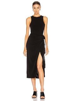 Proenza Schouler White Label Matte Jersey Sleeveless Wrap Dress