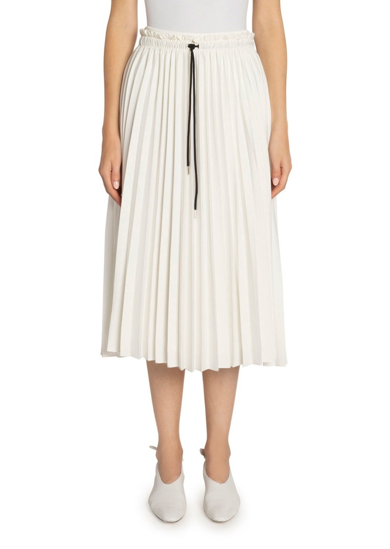 Proenza Schouler White Label Pleated Georgette Drawstring Midi Skirt