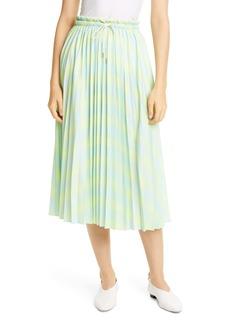 Proenza Schouler White Label Pleated Georgette Midi Skirt