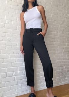 Proenza Schouler White Label Rumple Pique Belted Pants