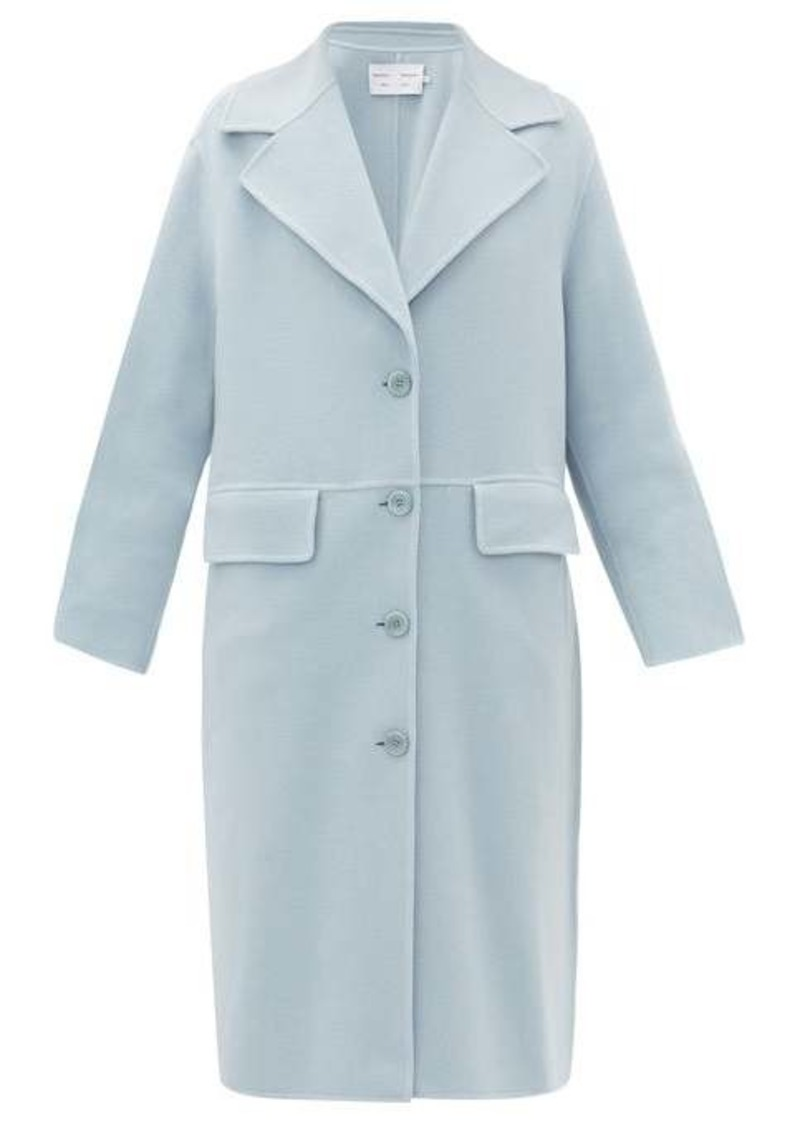 Proenza Schouler White Label Single-breasted pressed wool-blend coat