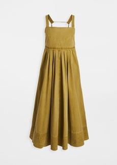 Proenza Schouler White Label Washed Cotton Apron Dress