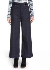 Proenza Schouler Wide Leg Crop Denim Pants