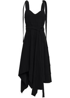 Proenza Schouler Woman Asymmetric Draped Crepe Dress Black