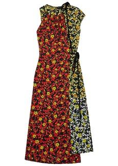 Proenza Schouler Woman Asymmetric Floral-print Georgette Dress Red